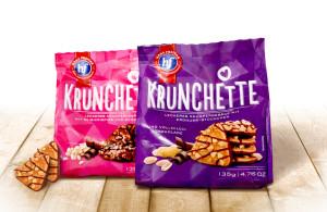 Krunchette, Likies, Lecker Schmecker, Packaging, entwickelt von der Markenagentur Menori Design aus Hamburg und New York