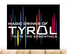 Magic Drinks Of Tyrol Markenidentität, entwickelt von der Markenagentur Menori Design aus Hamburg und New York