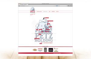 Petz Holding Corporate Design, entwickelt von der Markenagentur Menori Design aus Hamburg und New York