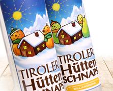 Tiroler Huettenschnaps Packaging, entwickelt von der Markenagentur Menori Design aus Hamburg und New York