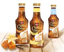Schwartau Coffee Shop Packaging, entwickelt von der Markenagentur Menori Design aus Hamburg und New York