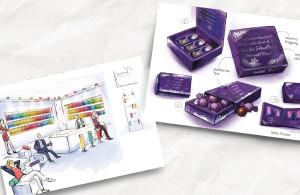 Konzeptskizzen von der Markenagentur Menori Design aus Hamburg und New York