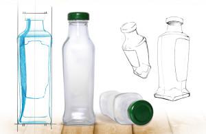 Schwartau Fruchtsirup Flaschendesign, entwickelt von der Markenagentur Menori Design aus Hamburg und New York